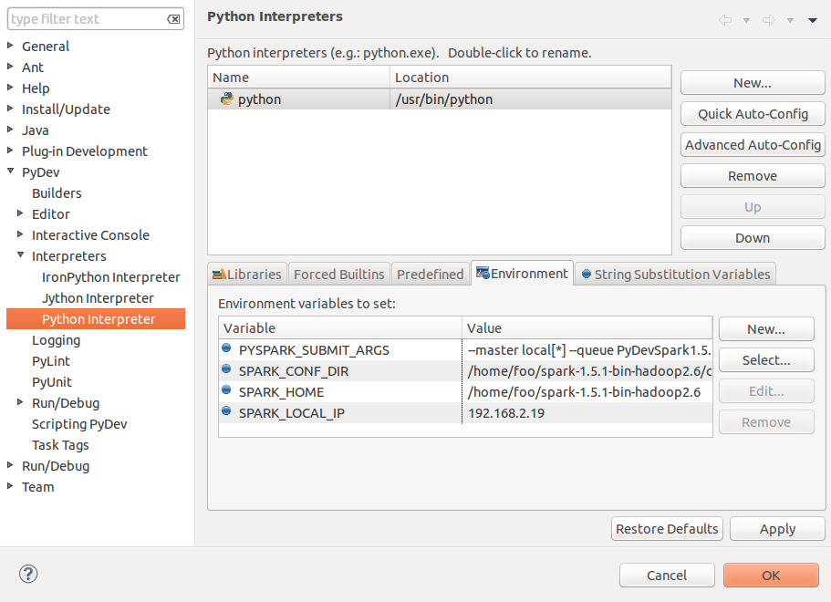 How to configure Eclipse for developing with Python and